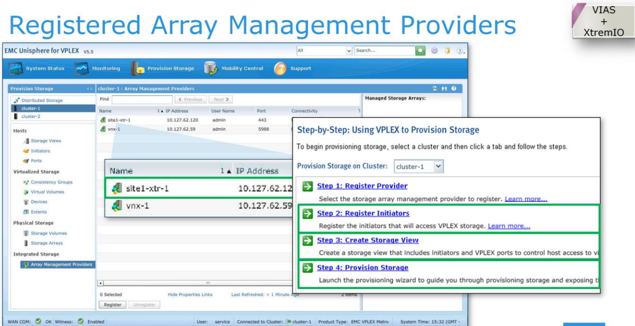 Vplex geosynchrony 55 is here itzikrs blog after accepting the certificate you should see the rest amp provider in the list of registered array management providers continue with the following xflitez Choice Image