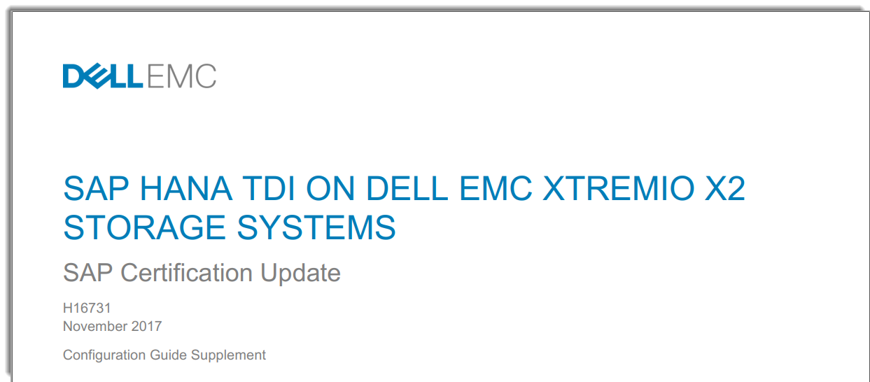 Xtremio X2 Is The Best Platform For Your Sap Hana Workloads