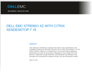 A New Citrix XenDesktop 7 16 / 7 17 On XtremIO X2 Reference
