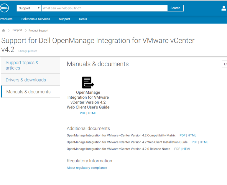 Dell OpenManage Integration for VMware vCenter v4 2 is now