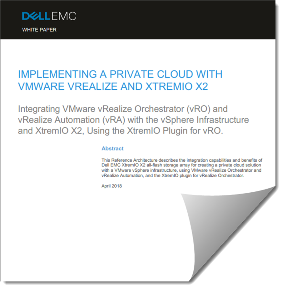 New White Paper, Implementing a Private Cloud with VMware vRealize