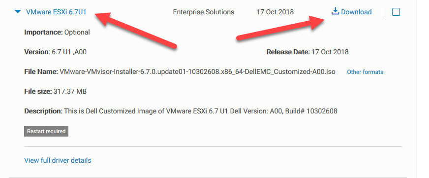 The Dell EMC VMware ESXi 6 7 U1 ISO is now available – Itzikr's Blog
